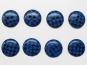 Knopf kariert 6485-28-6, Farbe 6 blau/schwarz