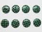 Knopf kariert 6485-28-7, Farbe 7 grün/schwarz
