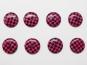Knopf kariert - Vichyknopf Nr. 6485-28-9, Farbe 9 pink/schwarz