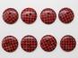 Knopf kariert - Vichyknopf Nr. 6485-36-5, Farbe 5 rot/schwarz