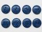 Knopf kariert - Vichyknopf Nr. 6485-36-6, Farbe 6 blau/schwarz