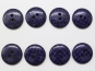 Knopf kariert - Vichyknopf Nr. 6485-36-8, Farbe 8 dunkellila/schwarz