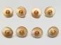 Knopf transparent mit Farbverlauf und Rose gold 71800-24-4, Farbe 4 Brauntöne