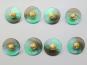 Knopf transparent mit Farbverlauf und Rose gold 71800-34-10, Farbe 10 Grüntöne