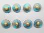 Knopf transparent mit Farbverlauf und Rose gold 71800-34-18, Farbe 18 Blautöne