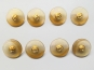 Knopf transparent mit Farbverlauf und Rose gold 71800-34-4, Farbe 4 Brauntöne