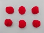 Pompons 500879-07, Farbe 07 rot