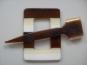 Schmuckschließe Nr. DK02173-02, Farbe 02 braun-weiß