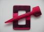 Schmuckschließe Nr. DK02173-24, Farbe 24 rot