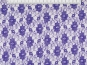 Spitzenstoff L727-05 mit Blumenmuster, Farbe 05 dunkellila