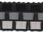 Häkelbesatz mit durchgezogenem Lacklederband - 2