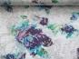 Ausbrenner 492419 in altweiß mit Blumendruck lila-türkis-grün - 2