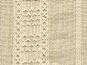 Baumwollstoff 80626 in natur mit Lurexstreifen, bestickt - 2