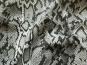 Baumwollstoff Stretch HS6061 Animalprint schwarz mit Goldglimmer - 2