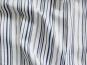 Baumwollstoff Stretch P091714 in weiß mit blauen Längsstreifen - 2