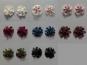Blumenapplikation Nr. 56058846-06 mit Satinrosen und Strasssteinen, Farbe 06 braun - 2