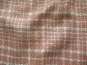 Feiner Bouclé-Stoff kariert 478163 in weiß-rosé - 2