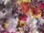 Chiffon L12204-004 in hellgrau mit Blumendruck lila/violett - 2