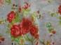 Chiffon L12207-2 in hellgrau mit Rosendruck rot - 2