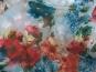 Chiffon L12204-002 in pastellblau mit Blumendruck blau-rot - 2
