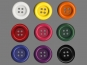 Clowns-Knöpfe 10115107-106fu, Farbe fuchsia - 2