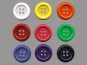 Clowns-Knöpfe 10115091-80ge, Farbe gelb - 2