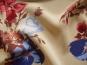 Georgette L80623 in hellbeige mit Blumendruck rot-blau - 2