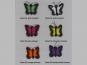 Jim Knopf Filz-Schmetterling Nr. 13396-03, Farbe 03 pink-schwarz - 2