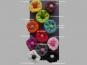 Jim Knopf Filzblume Nr. 12193-01, Farbe 01 schwarz-weiß - 2