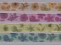 Organzaband 10958-04 mit Blumendruck, Farbe 04 petrol - 2
