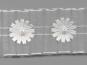 Plissee-Organzaband G2051-1 in weiß mit Satin-Blumen und Perlen - 2