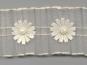 Plissee-Organzaband G2051-2 in creme mit Satin-Blumen und Perlen - 2
