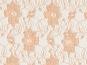 Spitzenstoff L727-10 mit Blumenmuster, Farbe 10 apricot - 2