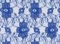Spitzenstoff L727-16 mit Blumenmuster, Farbe 16 königsblau - 2