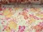 Spitzenstoff L8111-002 in pastellgelb mit Blumenmuster apricot - 2