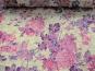 Spitzenstoff L8111-004 in pastellgelb mit Blumenmuster lila - 2