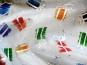 Weihnachtsorganza L8113-204 weiß mit bunten Geschenkpäckchen - 2