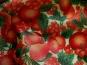 Weihnachtsorganza L8113-216 - Weihnachtsapfel in rot und rotem Glitter - 2