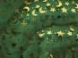Weihnachtsorganza L8118 in dunkelgrün mit Monden und Sternen in gold - 2