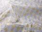 Weihnachtsorganza RS0127-005 in weiß mit Rauten in Goldglitter - 2