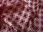 Weihnachtsorganza RS0127-006 in bordeaux mit Rauten in Goldglitter - 2