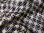 Weihnachtsorganza RS0127-008 in schwarz mit Rauten in Goldglitter - 2