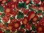 Weihnachtsdekostoff L8113-113 Weihnachtsapfel in rot und roter Glitter - 2
