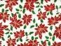 Weihnachtsdekostoff L8113-121 Weihnachtssterne in rot und Goldglitter - 2